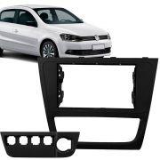 Moldura Painel 2 Din Volkswagen Gol Voyage G6 Black Piano