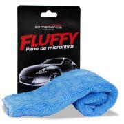 Pano Flanela de Microfribra Fluffy Azul para Remoção de Ceras Polidores e hidratantes