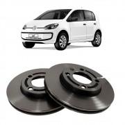 Par Disco de Freio Dianteiro Ventilado sem Cubo Volkswagen Up 1.0 2014 em diante