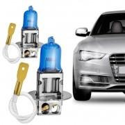 Par Lâmpada Automotiva H3 12V 55W 8500K Azulado