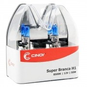 Par Lâmpada Cinoy H1 12V 55W Super Branca 8500K