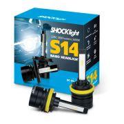 Par Lâmpada Super Led Headlight S14 Nano H11 H8 H9 H16-2 6000K 12V 24V 32w Efeito Xenon