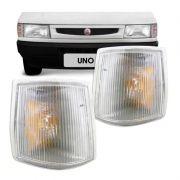 Par Lanterna Dianteira Pisca Fiat Uno Prêmio Fiorino 1991 a 2002 Cristal