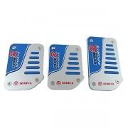 Pedaleiras Sport Tuning Seineca Cromado e Azul
