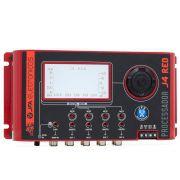 Processador de Áudio Digital JFA J4 Red Line 4 Vias Crossover Dinâmico e Equalizador Múltiplas Bandas