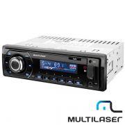 Rádio Automotivo Multilaser Talk P3214 Bluetooth com Entrada Auxiliar e USB