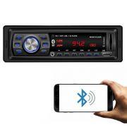 Rádio Automotivo Player Doorbem FM MP3 Usb Bluetooth Auxiliar Frontal 4x50w