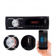 Rádio Automotivo Player FM MP3 Usb Bluetooth Auxiliar Frontal 4x50w