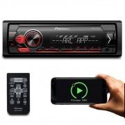 Rádio MP3 Player Automotivo Pioneer MVH-S118UI Interface UBS Android Iphone MixTrax AM FM