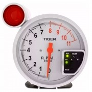 Relógio Contagiro Tiger 5 Pol 125mm RPM 1000 Alta Performace com Shift Light