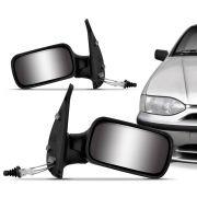 Retrovisor Externo Fiat Palio Siena 2 Portas 1996 a 2000 Controle Interno Manual Lado Direito 12461