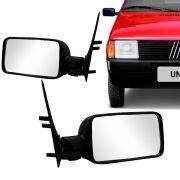 Retrovisor Externo Fiat Uno Prêmio Elba 1985 a 1988 Uno Mille Sem Controle Interno Lado Esquerdo RX407