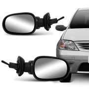 Retrovisor Externo Renault Logan Sandero 2007 a 2009 Controle Interno Lado Direito 11481