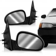Espelho Retrovisor Manual Vw Gol 1995 a 1999 2 Portas Esquerdo