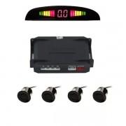 Sensor de Estacionamento Preto Brilho c/Display e Aviso Sonoro