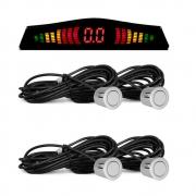 Sensor de Estacionamento Prata com Display e Aviso Sonoro