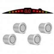 Sensor de Estacionamento Prime TechOne com Display 4 Pontos Cor Prata