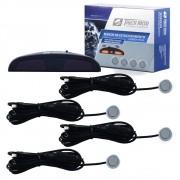 Sensor de Estacionamento Tiger Prata c/Display e Aviso Sonoro