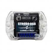 Strobo Rgb 7 Cores 12 Efeitos Voltímetro Modo Automático Suporta até 10 Faróis