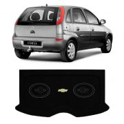 Tampão Bagagito Porta Malas com Furação para Alto-Falante Chevrolet Corsa Hatch 2002 a 2012 Preto