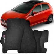 Tapete Automotivo Carpete Fiat Punto 2007 até 2012 com 4 Peças Grafite