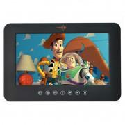 Tela LCD Portátil para Encosto de Cabeça Kx3 9 Pol Dvd Usb Sd com Controle Multifuncional