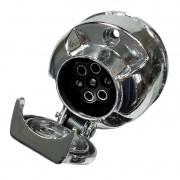 Tomada Engate de Reboque Elétrica Fêmea em Alumínio 12V 24V 6 Polos