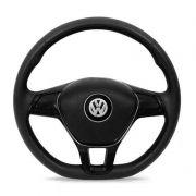 Volante Esportivo Novo Golf Base Reta Preto Volkswagen Gol Parati Saveiro G2,G3,G4 Com Acionador de Buzina Cubo Embutido