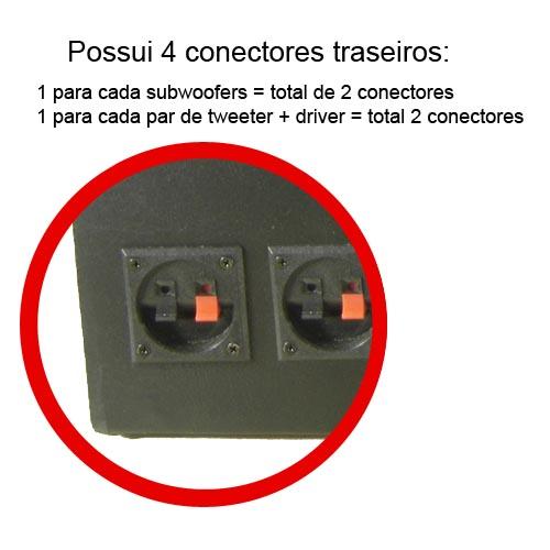 Caixa de Som Dutada Montada Super Trio 650W RMS - AutoParts Online