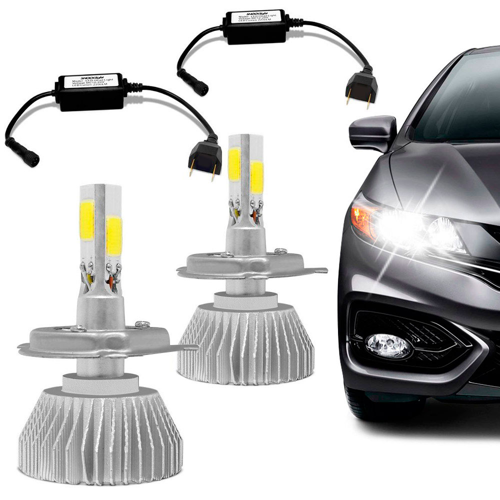 Kit Lâmpada Super Led Headlight 3D H7 6000K 12V Efeito Xenon   AutoParts  Online ...