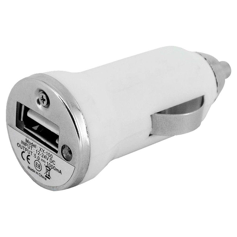 Adaptador Carregador Veicular Universal 12V USB Branco  - AutoParts Online