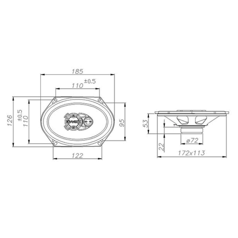 Alto Falante Triaxial 5x7 Bravox 50W Rms 4 Ohms B3X57 X  - AutoParts Online