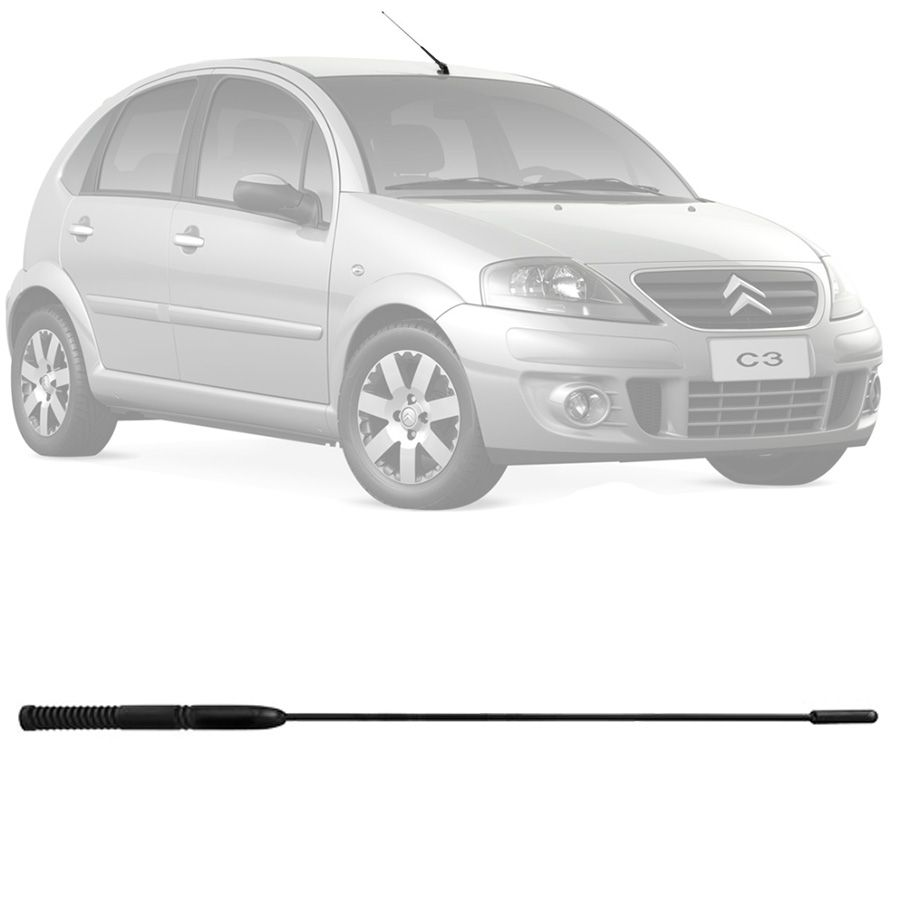 Antena Haste Automotiva Citroen C3 2005 a 2012 C4 Rosca 6mm
