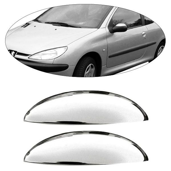 Aplique Cromado para Maçaneta Externa da Porta ? 2 portas ? Peugeot 206/207  - AutoParts Online