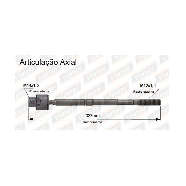 Barra Axial Mecânica Gm Corsa 1994 a 1999 Tigra 1997 a 2000 Unidade  - AutoParts Online