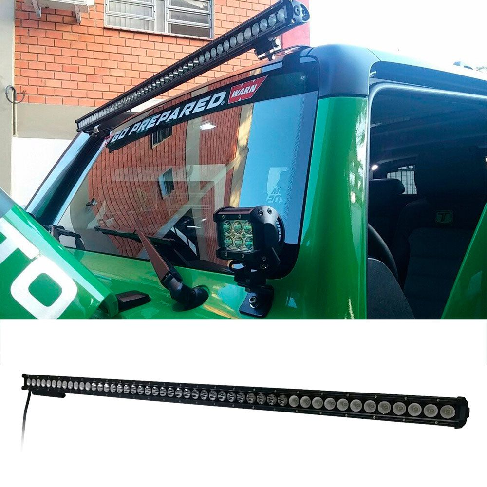 Barra Super Led Off Road 240W Slim 6000K Alta Potência  - AutoParts Online