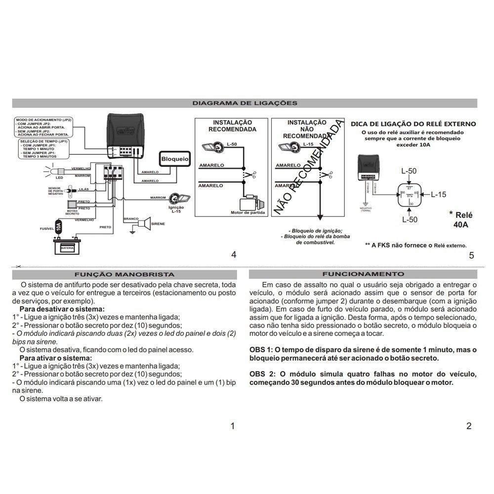 Bloqueador Anti Furto Fks MAF 112 TC  - AutoParts Online