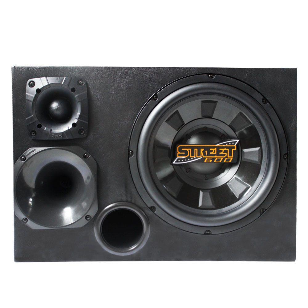 Caixa de Som Trio Spyder Montada Dutada 350W RMS  - AutoParts Online