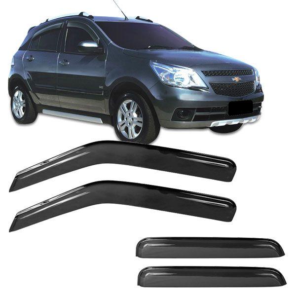 Calha de Chuva Acrilica Adesiva Chevrolet AGILE 4 portas 2009 a 2011  - AutoParts Online
