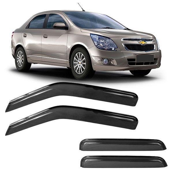 Calha de Chuva Acrílica Adesiva Chevrolet Cobalt 4 portas 2012  - AutoParts Online