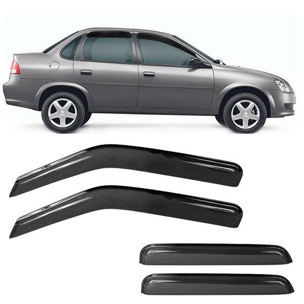 Calha de Chuva Acrílica Adesiva Chevrolet Corsa ? 4 portas  - AutoParts Online