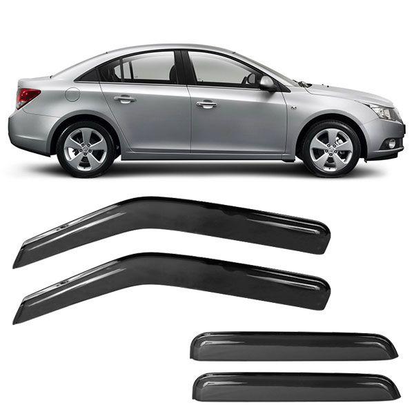 Calha de Chuva Acrílica Adesiva Chevrolet Cruze Sedan 4 portas  - AutoParts Online