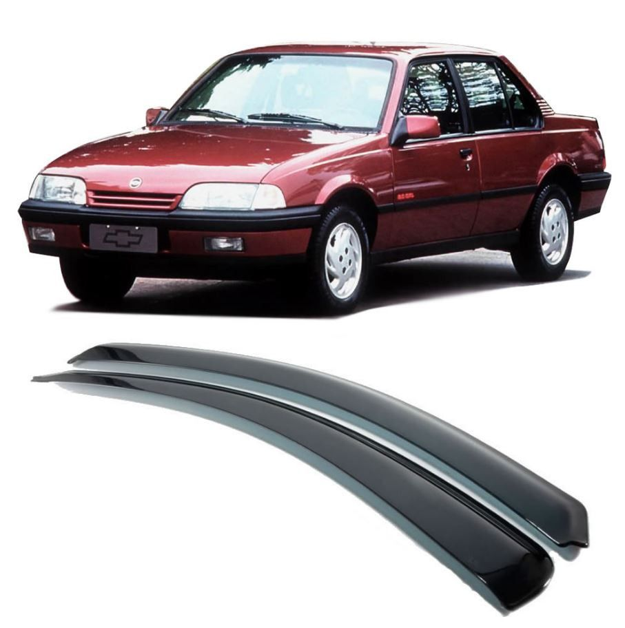 Calha de Chuva Acrilica Adesiva Chevrolet Monza Tubarão 2P  - AutoParts Online