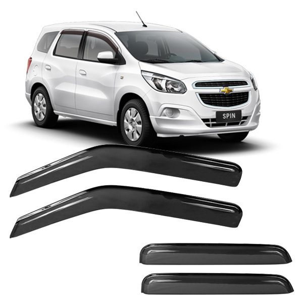 Calha de Chuva Acrílica Adesiva Chevrolet Spin 4 portas  - AutoParts Online