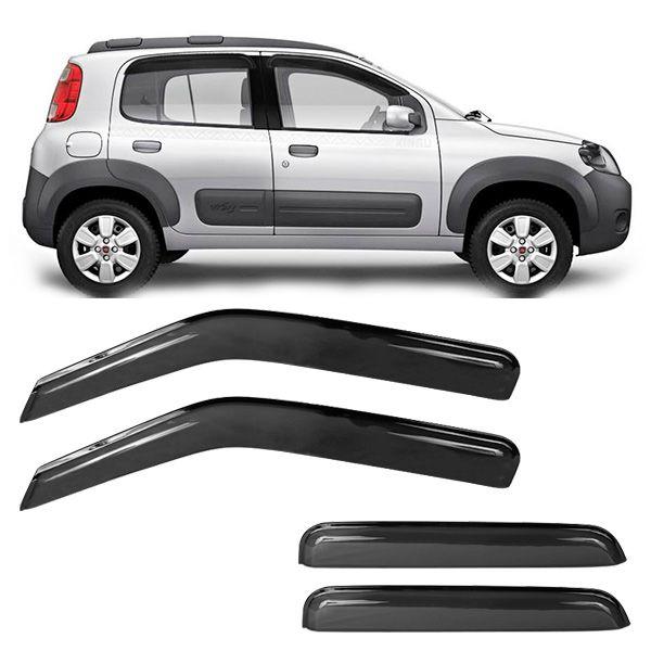 Calha de Chuva Acrilica Adesiva Fiat Uno Vivace  2010 a 2015 4 Portas  - AutoParts Online