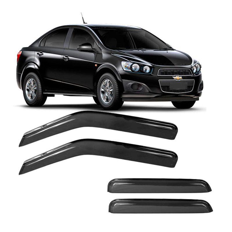 Calha de Chuva Acrílica Adesiva Chevrolet Sonic Sedan 4 portas  - AutoParts Online