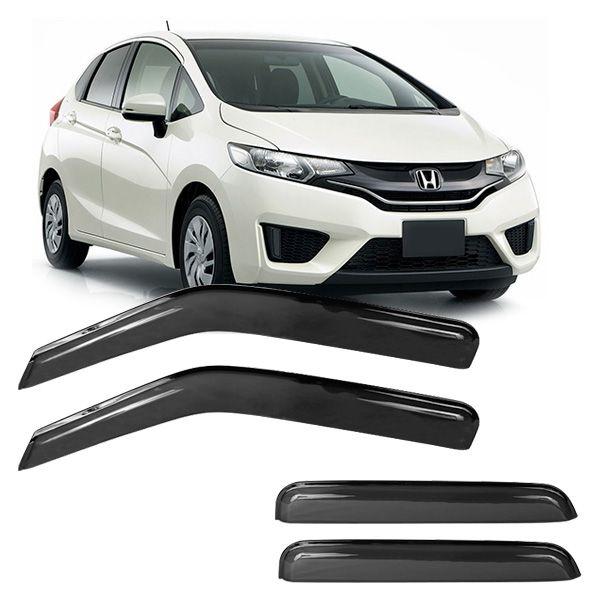 Calha acrilica Honda New Fit 2009 a 2014 4 portas   - AutoParts Online