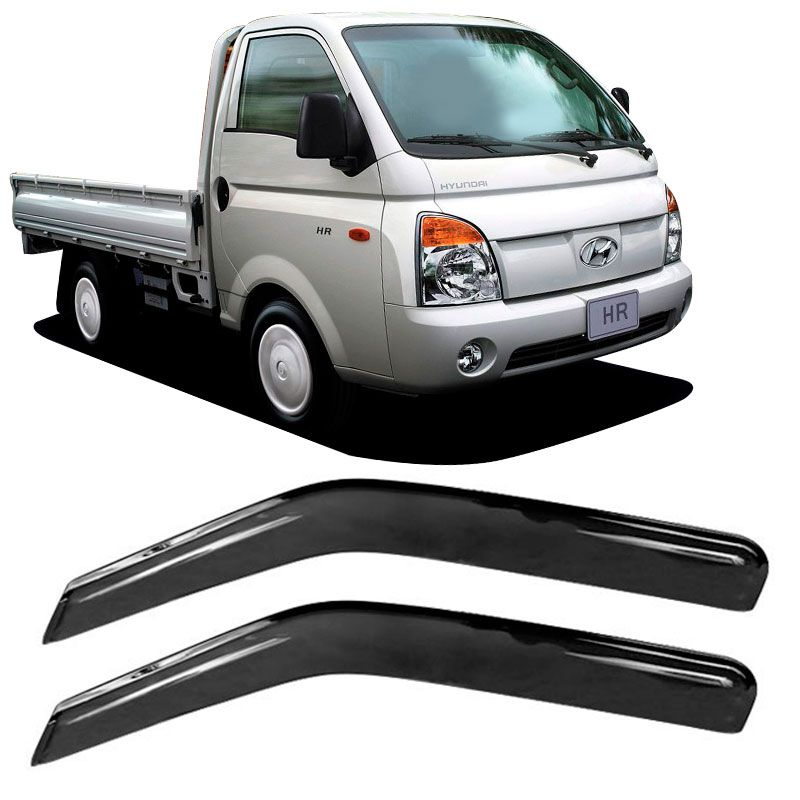 Calha de Chuva Acrílica Adesiva Hyundai HR 2500 2 portas  - AutoParts Online