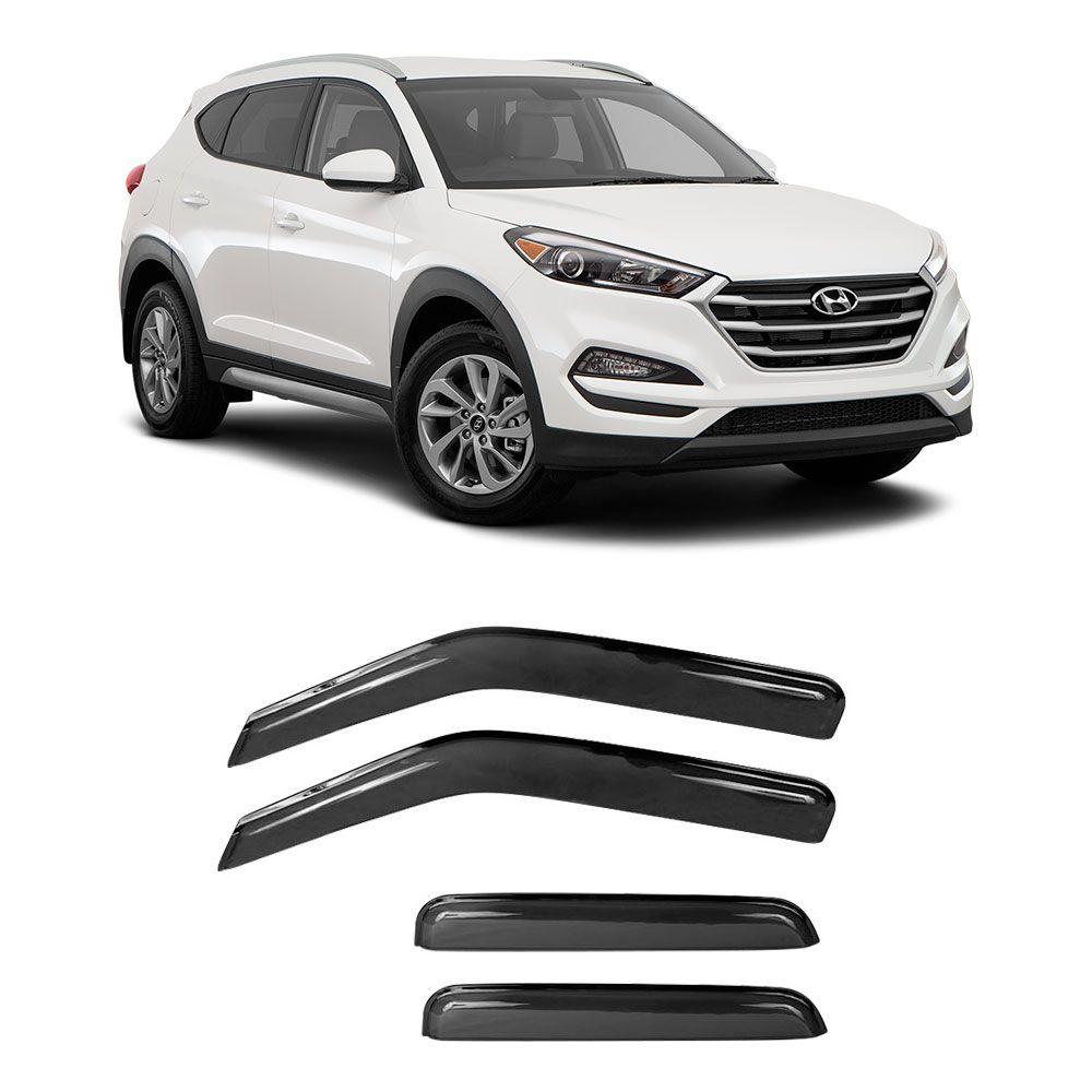 Calha de Chuva Acrilica Adesiva Hyundai Tucson 2017 4 Portas  - AutoParts Online