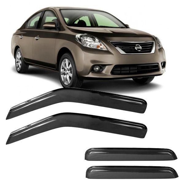 Calha de Chuva Acrílica Adesiva Nissan Versa 4 portas  - AutoParts Online